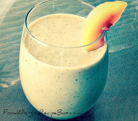 Peach Smoothie Recipe with Chia Seeds!