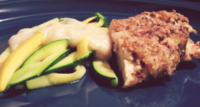 baked chicken recipe with squash and zucchini pasta