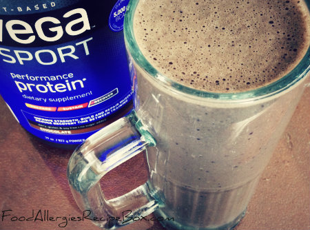 Chocolate Smoothie with Sunbutter and Blueberries!